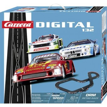CARRERA DIGITAL 132 DRM Retro Race 3 Auta