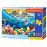Puzzle 100 dolphins in tropics